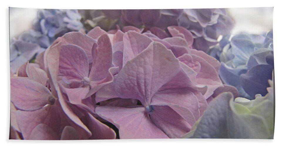 Nature Bath Sheet featuring the photograph Dream Hydrangeas by Debbie Portwood