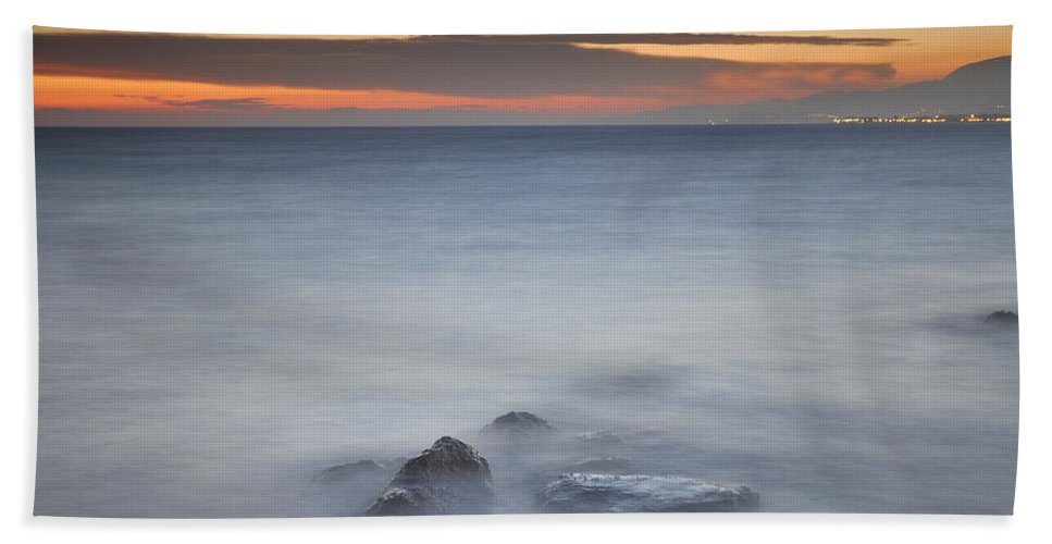Seascape Hand Towel featuring the photograph Dreaming by Guido Montanes Castillo