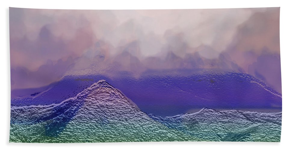 Abstract Hand Towel featuring the photograph Dreaming In Technicolor by Ian MacDonald