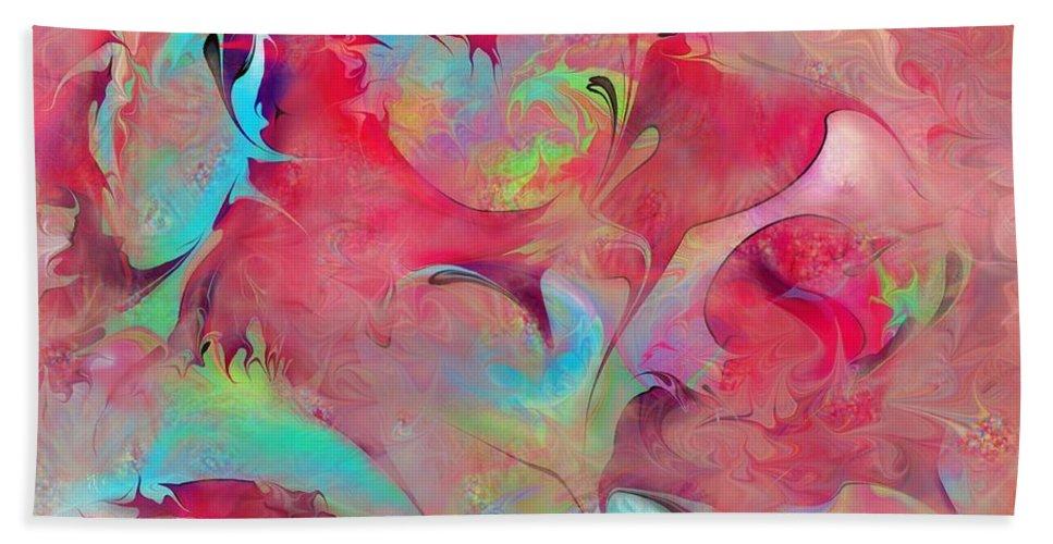 Dreams Bath Sheet featuring the digital art Dreamyland by Rachel Christine Nowicki