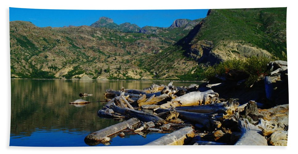 Driftwood Hand Towel featuring the photograph Driftwood by Jeff Swan