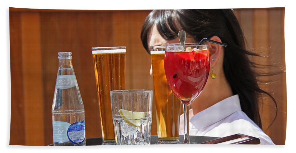 Drinks Bath Sheet featuring the photograph Drinks Sir by James Hill