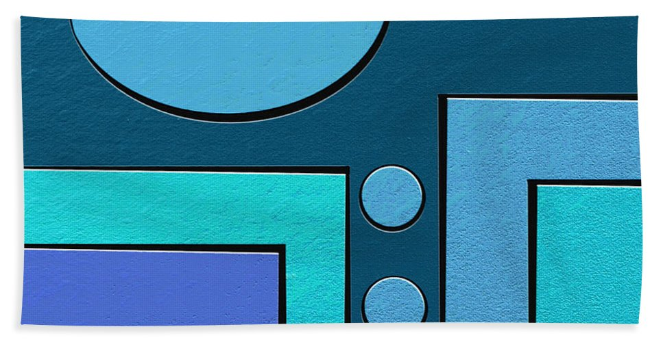 Abstract Art Bath Sheet featuring the painting Drip by Ely Arsha