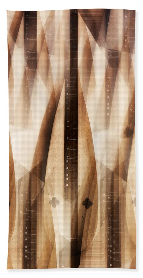 Dulcimer Abstract Hand Towel featuring the photograph Dulcimer Abstract by Bill Cannon