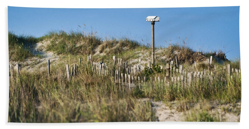 North Carolina Hand Towel featuring the photograph Dune Bird House by John Greim
