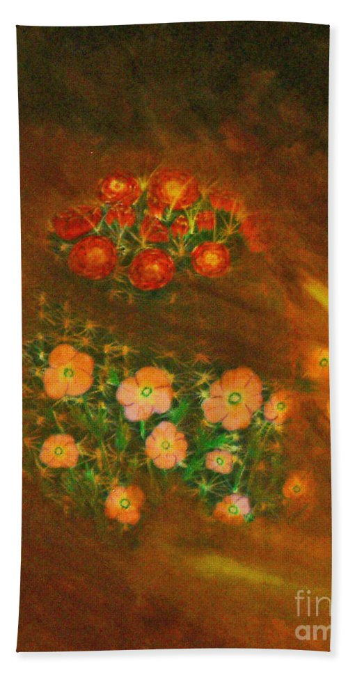 Dust Storm Bath Sheet featuring the painting Dust Storm by Don Monahan