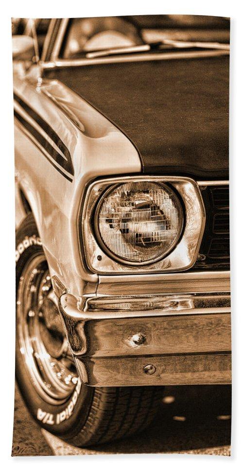 1970 Bath Sheet featuring the photograph Duster 340 by Gordon Dean II
