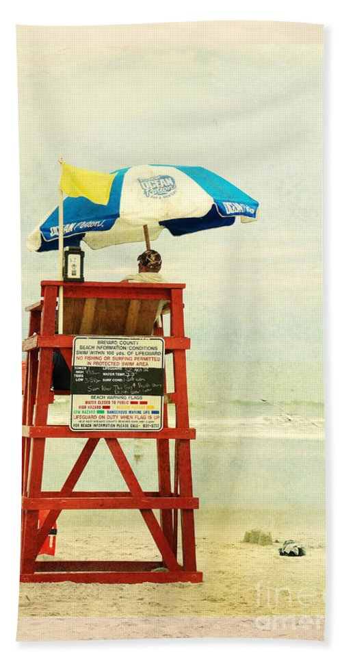 Beach Hand Towel featuring the photograph Duty Time by Susanne Van Hulst