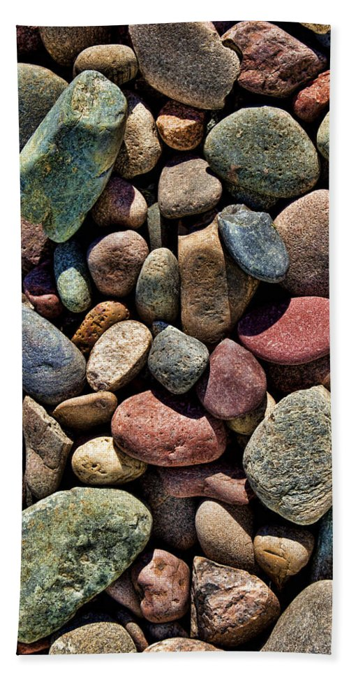 Colorful Rocks Bath Sheet featuring the photograph Dyed Stones by Kelley King