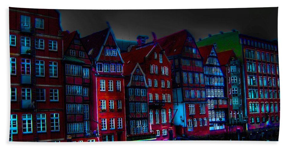 Dyke Road Hand Towel featuring the photograph Dyke Road - Hamburg by Ericamaxine Price