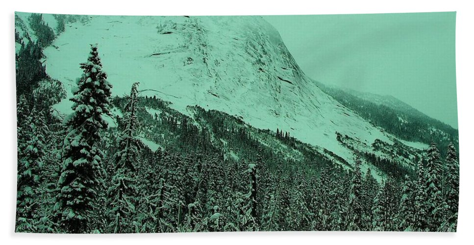 Mountains Bath Sheet featuring the photograph Early Snow In The Mountains by Jeff Swan