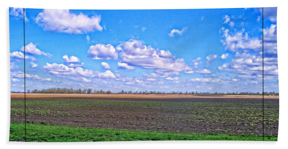 Nature Bath Sheet featuring the photograph Early Spring Farmland by Debbie Portwood
