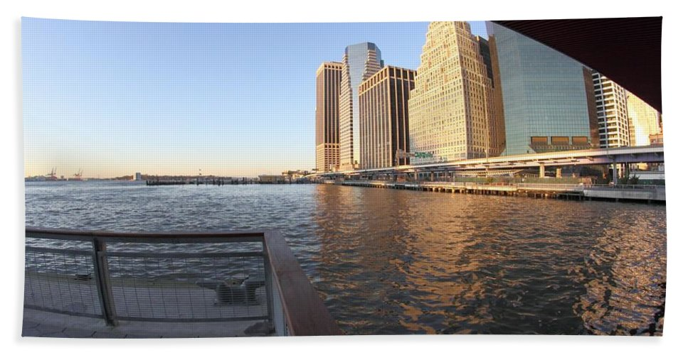 East River Bath Sheet featuring the photograph East River by Robert McCulloch