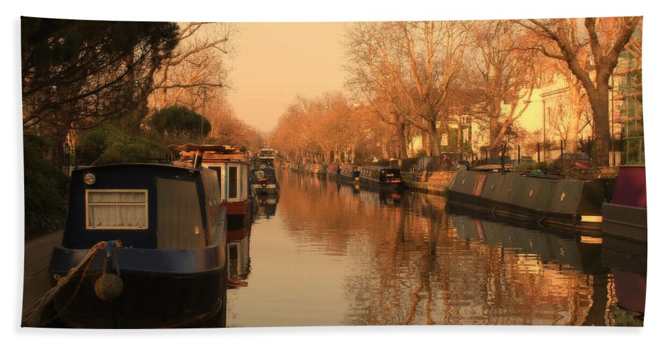 Little Venice Hand Towel featuring the photograph Easy Afternoon by Jasna Buncic