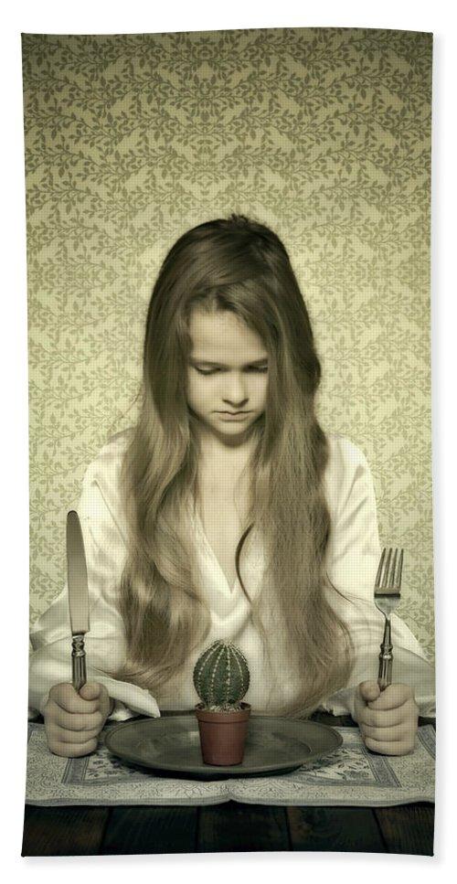 Girl Bath Sheet featuring the photograph Eating Cactus by Joana Kruse