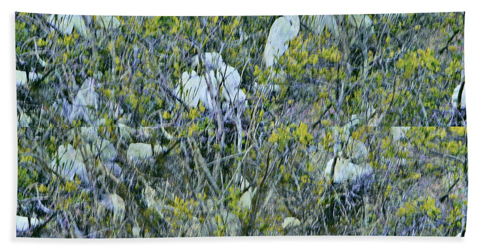 Egret Bath Sheet featuring the photograph Egrets At Roost by Leslie Revels