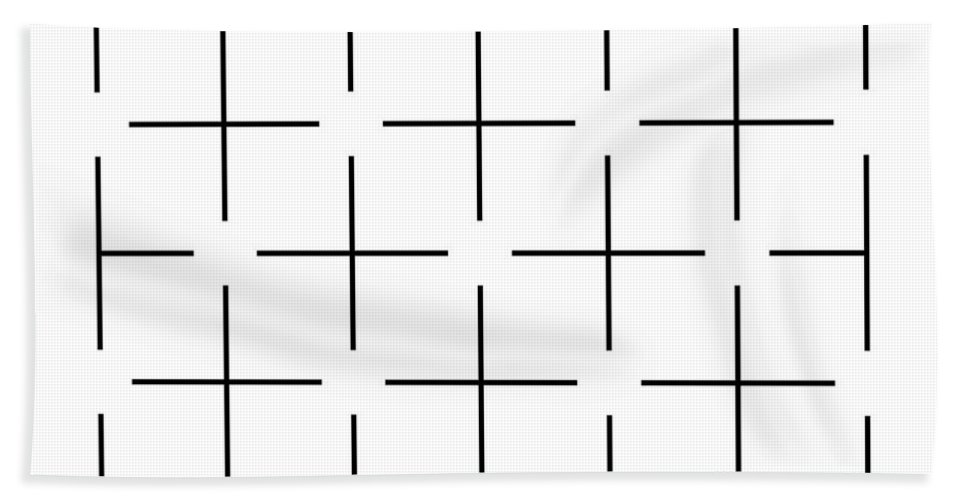 Ambiguity Bath Sheet featuring the photograph Ehrenstein Illusion by SPL and Photo Researchers
