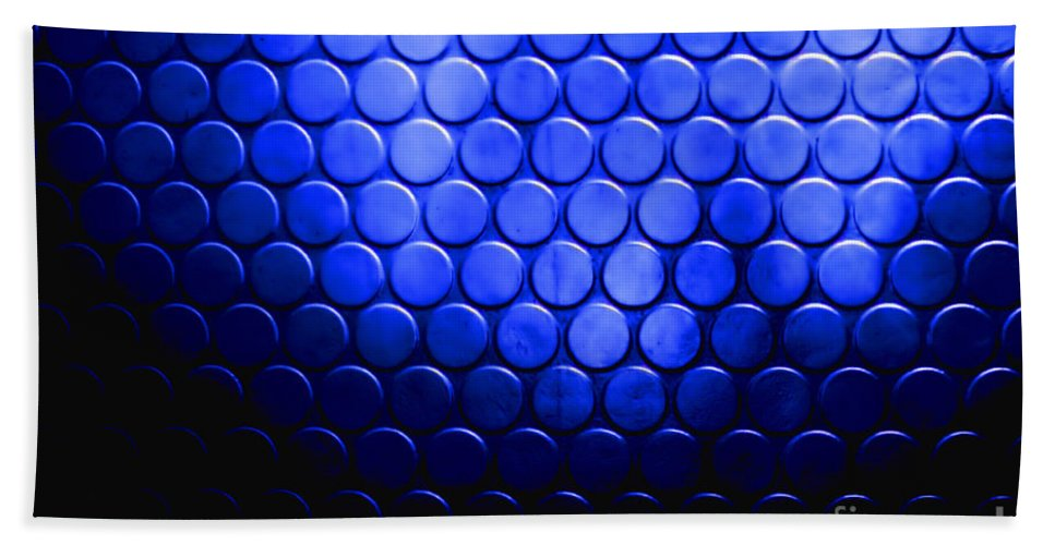 Circles Hand Towel featuring the photograph Electric Blue Circle Bumps by Simon Bratt Photography LRPS