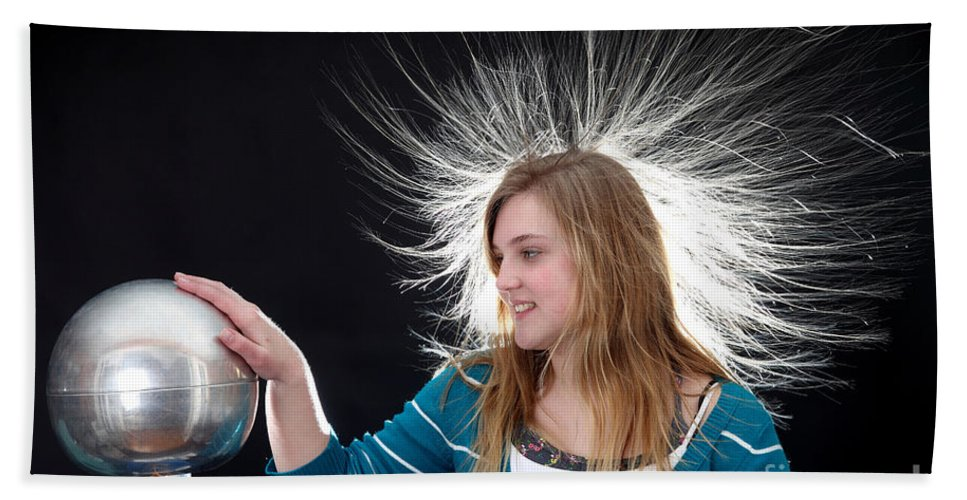 Electrostatic Hand Towel featuring the photograph Electrostatic Generator, 4 Of 8 by Ted Kinsman