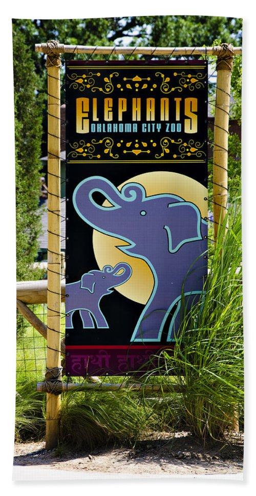 Oklahoma Hand Towel featuring the photograph Elephants by Ricky Barnard