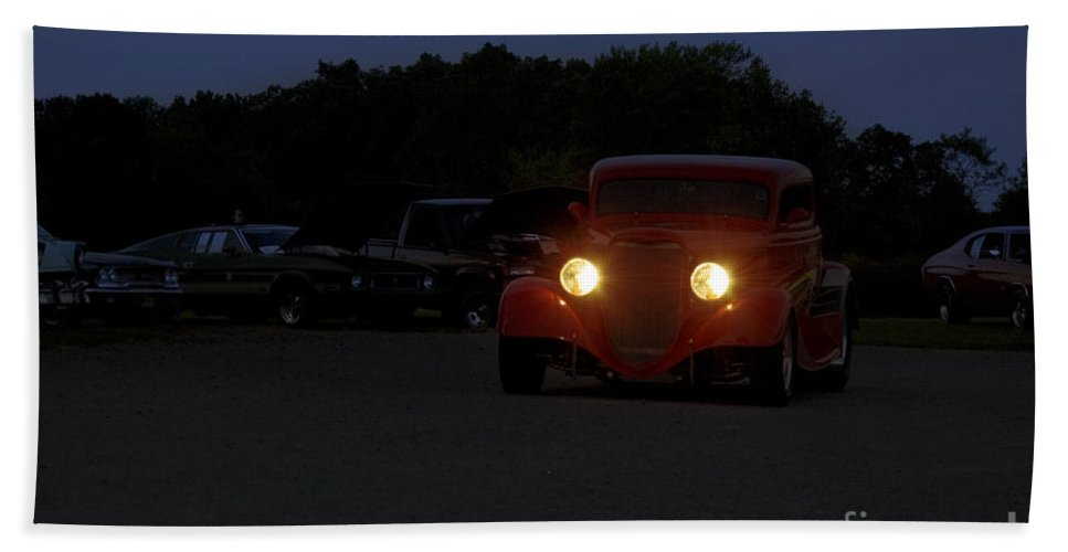 Car Hand Towel featuring the photograph Eliminator's Departure by Tom Luca