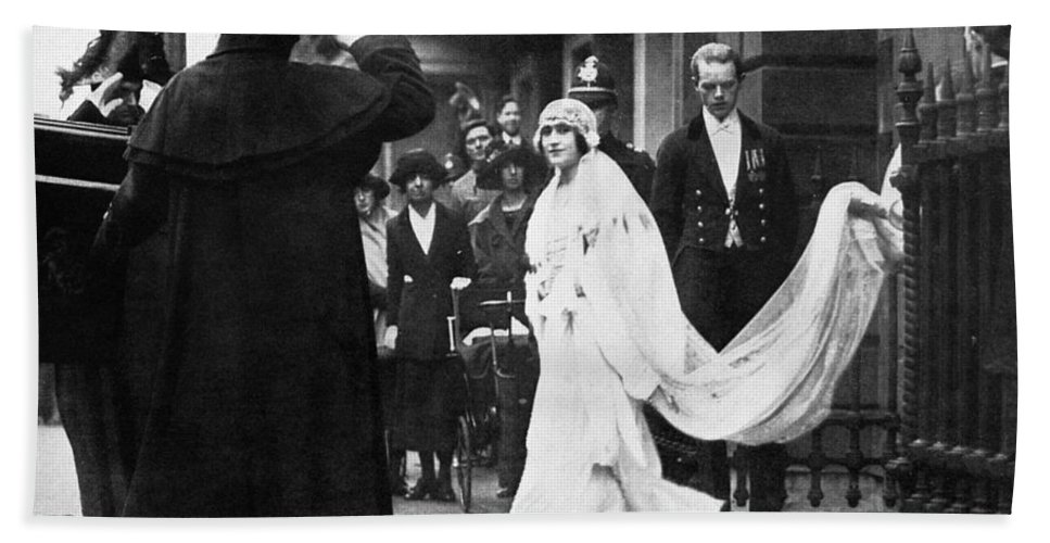 1923 Bath Sheet featuring the photograph Elizabeth Bowes-lyon by Granger