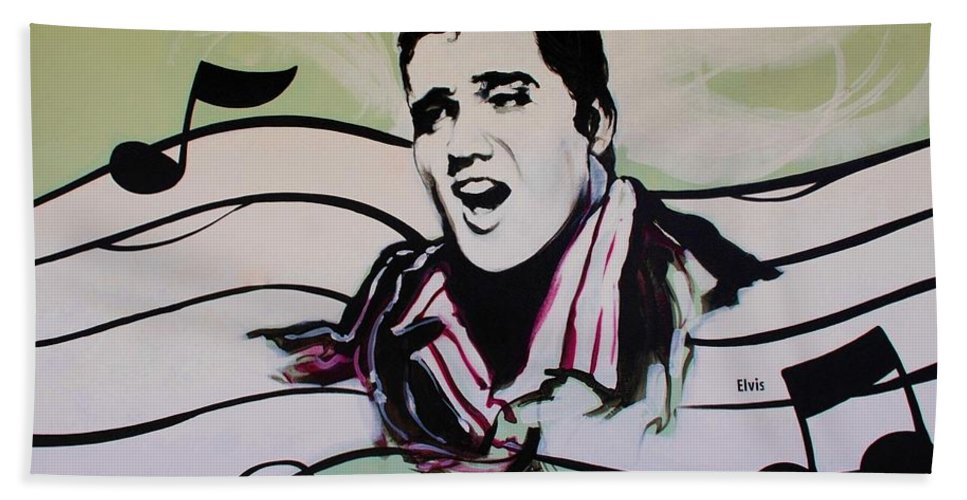 Elvis Hand Towel featuring the photograph Elvis by Rob Hans