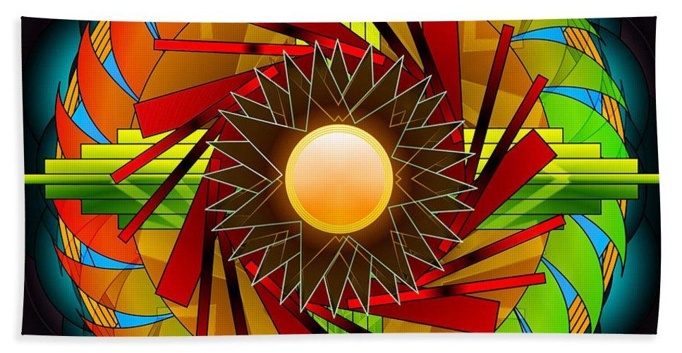 Mandala Bath Sheet featuring the digital art Emboldened by Mario Carini