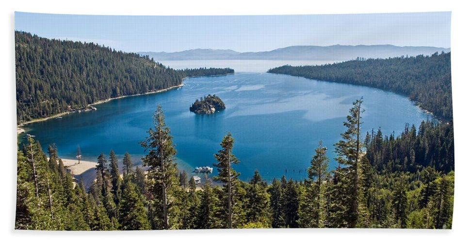 Ship Bath Sheet featuring the photograph Emerald Bay Morning by Jim Chamberlain