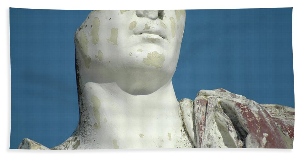 Europe Bath Towel featuring the photograph Emperor's Bust by Mary Lane