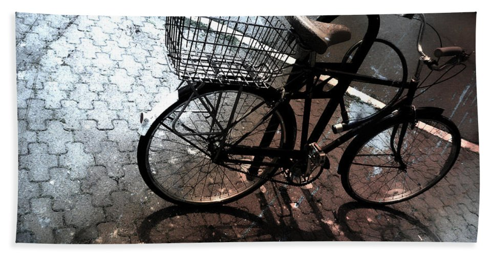 Bike Hand Towel featuring the photograph Empty Basket by The Artist Project