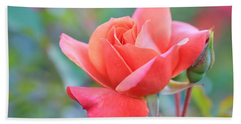 Disneyland Rose Hand Towel featuring the photograph Enchanting by Heidi Smith