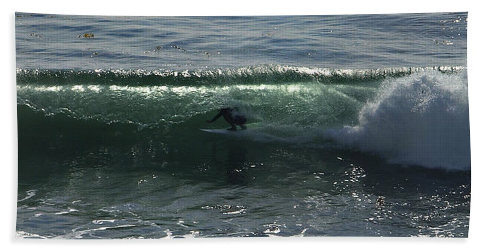 Surf Bath Sheet featuring the photograph Enclosed by Joe Schofield