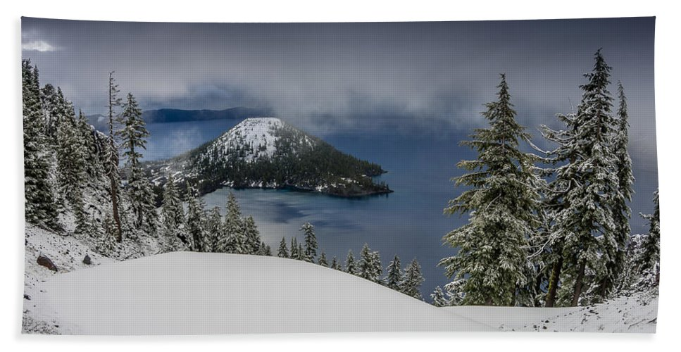 Cascades Hand Towel featuring the photograph Encroaching Storm by Greg Nyquist