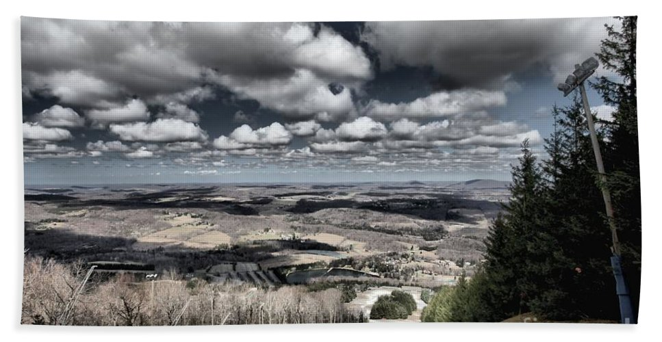 Spring Skiing Hand Towel featuring the photograph End Of The Season by Adam Jewell