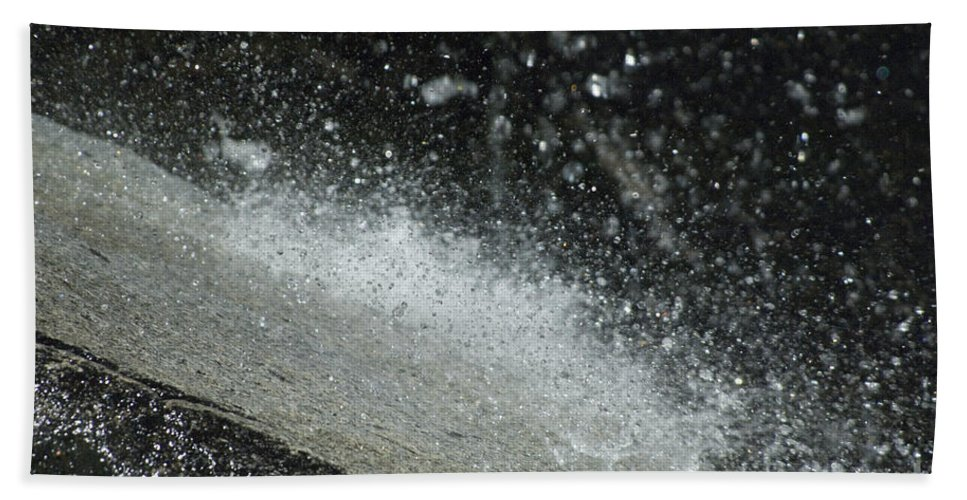 Water Hand Towel featuring the photograph End Of The Waterfall by Sandra Bronstein