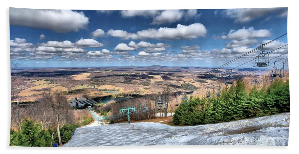 Skiing Hand Towel featuring the photograph Endless Views by Adam Jewell