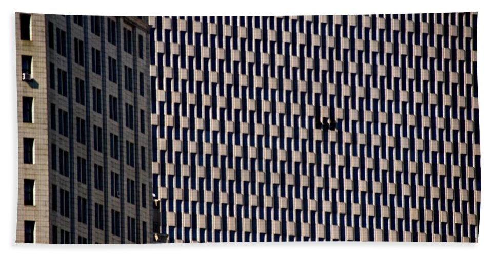 Endless Windows Hand Towel featuring the photograph Endless Windows by Eric Tressler