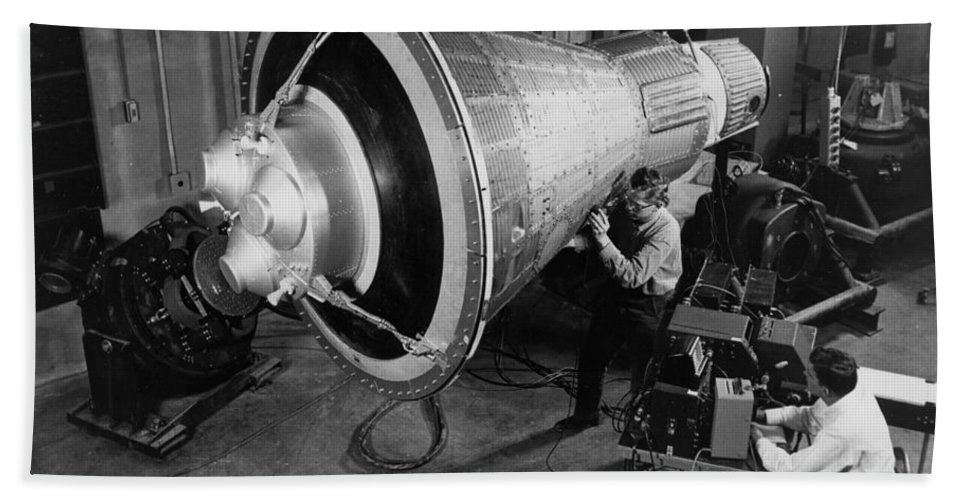 Mercury Bath Sheet featuring the photograph Engineers Inspect And Test by Stocktrek Images
