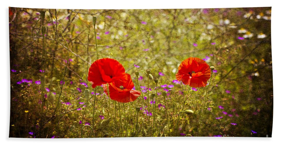 Wiltshire Hand Towel featuring the photograph English Summer Meadow. by Clare Bambers - Bambers Images