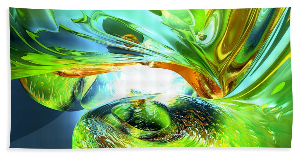 3d Bath Sheet featuring the digital art Envious Thoughts Abstract by Alexander Butler