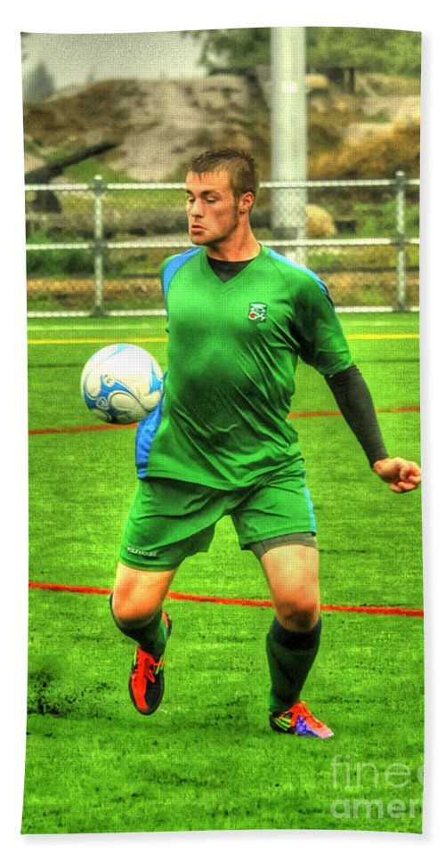 Occer Hand Towel featuring the photograph Eric 2 by Rod Wiens