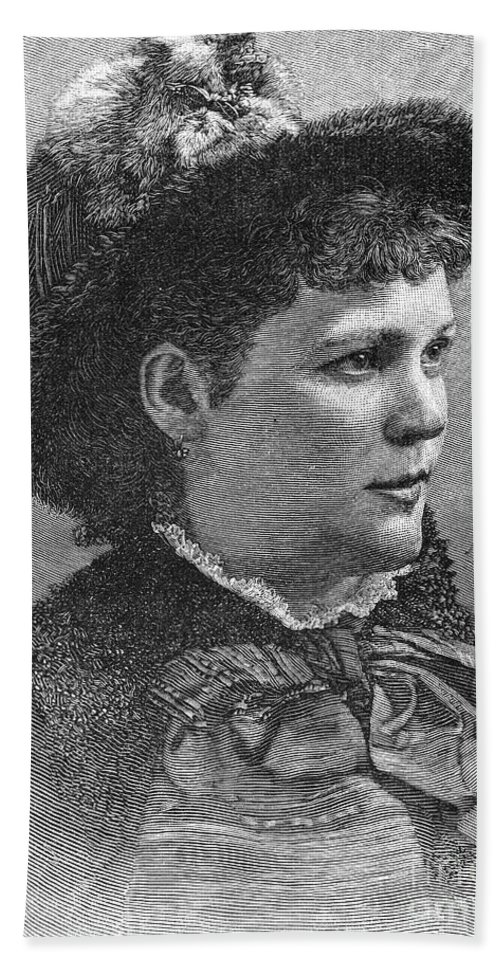 1883 Hand Towel featuring the photograph Etelka Gerster (1855-1920) by Granger