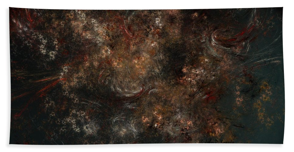 Knapko Bath Sheet featuring the digital art Eternal Garden by John Knapko