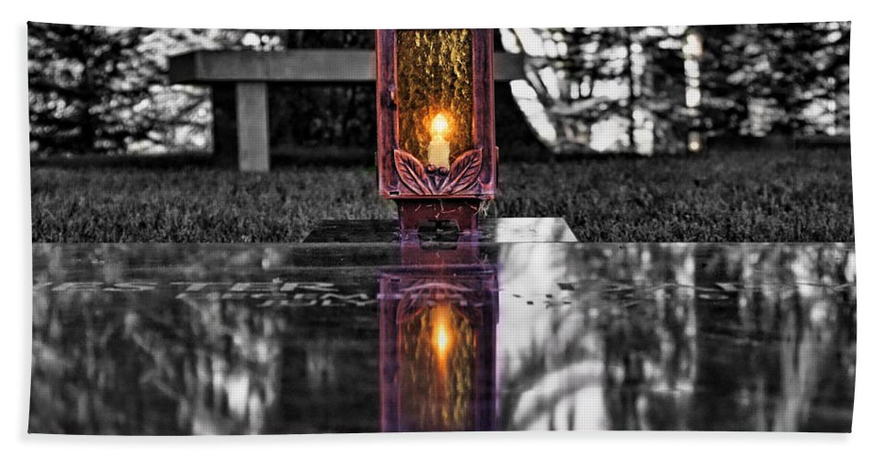 Candle Bath Sheet featuring the photograph Eternal Reflection by David Sanchez