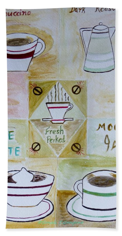 Coffee Hand Towel featuring the painting Eureka by Sonali Gangane