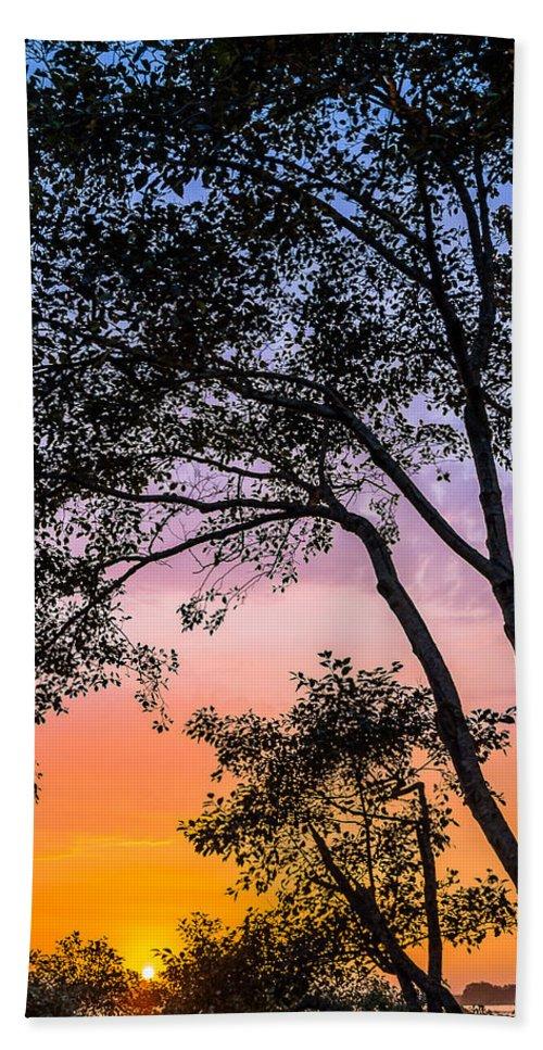 Eureka Hand Towel featuring the photograph Eureka Sunset by Greg Nyquist
