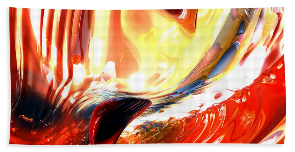 3d Bath Sheet featuring the digital art Evil Intent Abstract by Alexander Butler