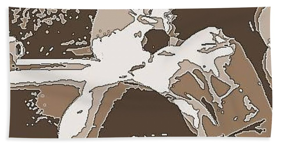 Abstract Bath Sheet featuring the photograph Expecting A Boy by Angela L Walker