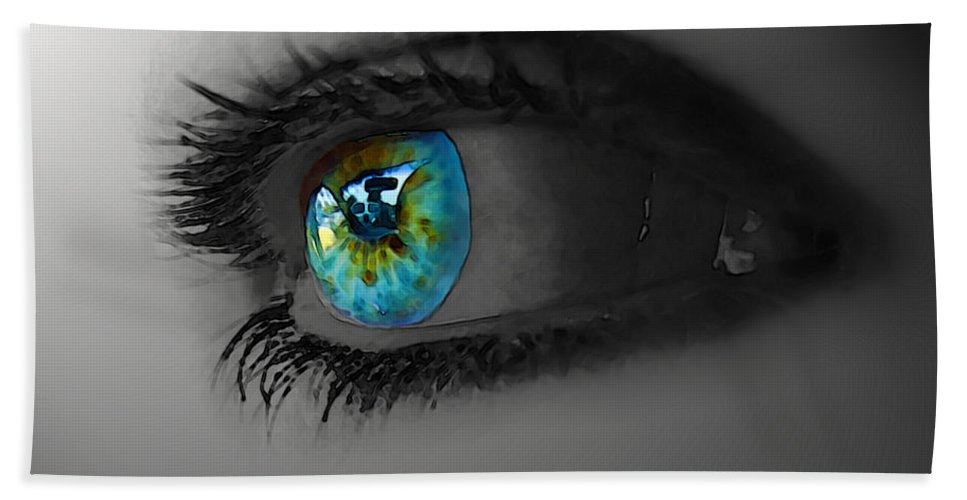 People Bath Sheet featuring the photograph Eye Art by Debbie Portwood